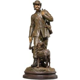 Emperor Franz Joseph I of Austria – a coloured ceramic figure of the emperor as a hunter