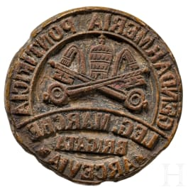 "A seal of the papal gendarmerie ""Brigata Arcevia"", 18th/19th century"