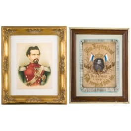 King Ludwig II - two commemorative pictures, 20th century