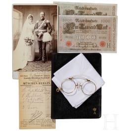 Prince Alfons of Bavaria - photo, wallet, glasses, handkerchief