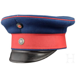 A visor cap for officers of the infantry, circa 1900