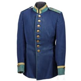 "A tunic for an NCO in the Royal Bavarian 1st Riflemen Battalion ""König"", circa 1900"