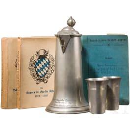 Bayerische Offiziersvereinigungen - Zinngeschenk, Dokumente, Buch, 1. Hälfte 20. Jhdt.