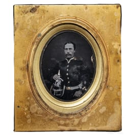 An ambrotype of a Hanoverian soldier, mid-19th century