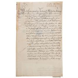Prussia - King Friedrich Wilhelm I, an autograph, dated 23.3.1713