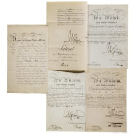 Kaiser Wilhelm II - four autographs, dated 1894 - 1914