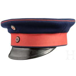 A visor cap for enlisted men of the infantry, circa 1900