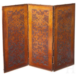 Alfred, Duke of Saxe-Coburg and Gotha (1844 - 1900), Prince of Great Britain and Ireland - a folding screen from the Palais Edinburgh