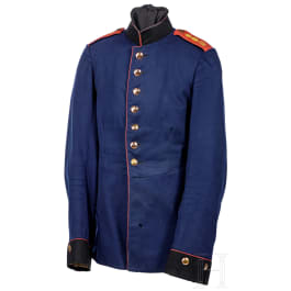 A tunic for enlisted men in the 3rd Wurttemberg Field Artillery Regiment No. 49, circa 1900