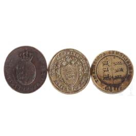 Three Baden-Württenbergian official seals, 19th century