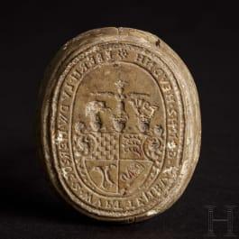 Eberhard Ludwig, Duke of Wurttemberg - a stone-carved seal, circa 1700