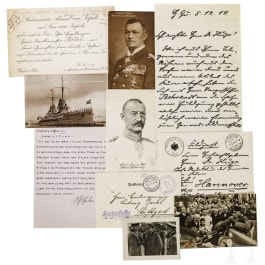 Autografen bedeutender Persönlichkeiten des 1. Weltkrieges
