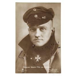 Manfred von Richthofen (1892 - 1918) - a portrait post card with signature