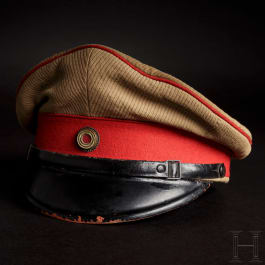 A visor cap to the tropical uniform for officers of the Protection Troop, circa 1900