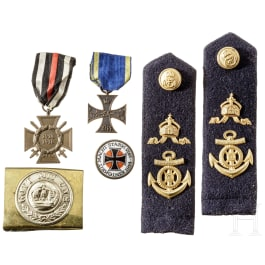 A pair of shoulder bords for warrant officers of the Imperial German Navy