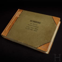 """A photograph album of a sailor on the """"SMS Strassburg"""", period of military service 1912-15"""