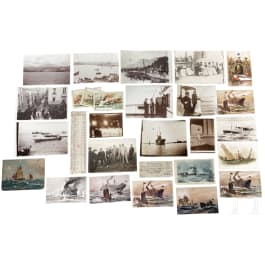 Willy Stöwer - a collection of documents from the estate of the marine painter, German, 1930s