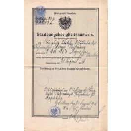 Umfangreiches Aktenkonvolut des Ober-Bahnmeisters Benno Hoffmann (1867 - 1929), sein ganzes Leben umfassend