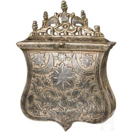 A Balkan-Turkish nielloed cartouche box, 19th century