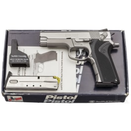 """Smith & Wesson Mod. 4006, """"Third Generation Compact and Full-Size .40 S & W"""", in box"""