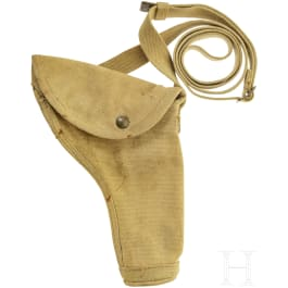 A British holster for a Hi-Power pistol or a revolver