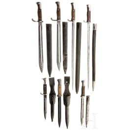 Seven German bayonets