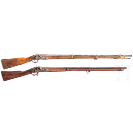 Two infantry rifles, 19th century