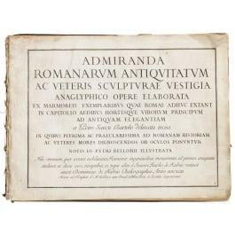 """Admiranda romanarum antiquitatum"", a compilation of large-sized coppers of roman art work, by Bartoli and Bellori, Italy, 1693"