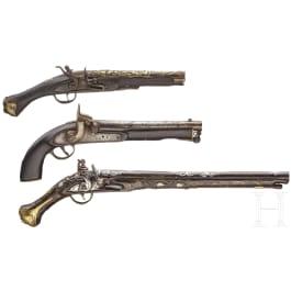 Three oriental pistols, 19th/20th century