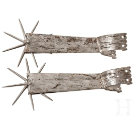 A pair of Hungarian Gothic spurs, 16th century