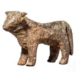An Etruscan bronze bull, 6th century B.C.
