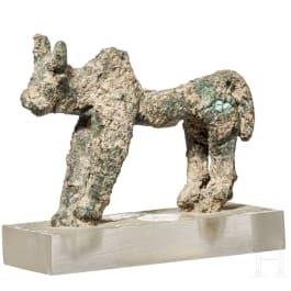 An Italian bronze bull figurine, 7th century B.C.