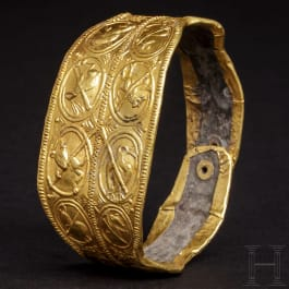 A Polish gold and silver bracelet, 12th - 13th century