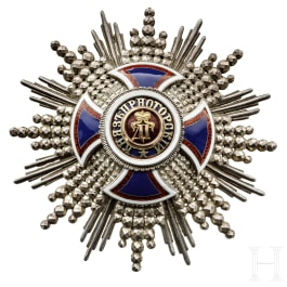 A breast star of the Order of Danilo I, Italian manufacturer, 1st half of the 20th century