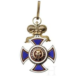 A neck cross of the Order of Prince Danilo I, circa 1900