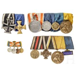 Vier Ordensschnallen, Preußen, 1866 - 1918