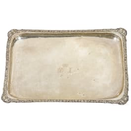 Prince Danilo I of Montenegro (1670 - 1735) - a large silver tray, early 18th century