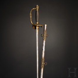 General Andrew Jackson (1767 - 1845) - a model 1860 Staff Officer's Sword with a Damascus blade and a lock of hair at the pommel attributed to the 7th US President