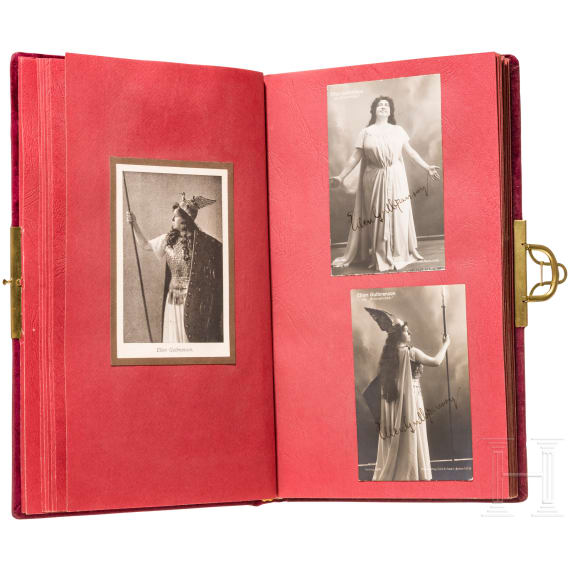 Prince Alfons of Bavaria - a photo album of the Wagner family and Bayreuth festival artists, 1900-30, with many autographs
