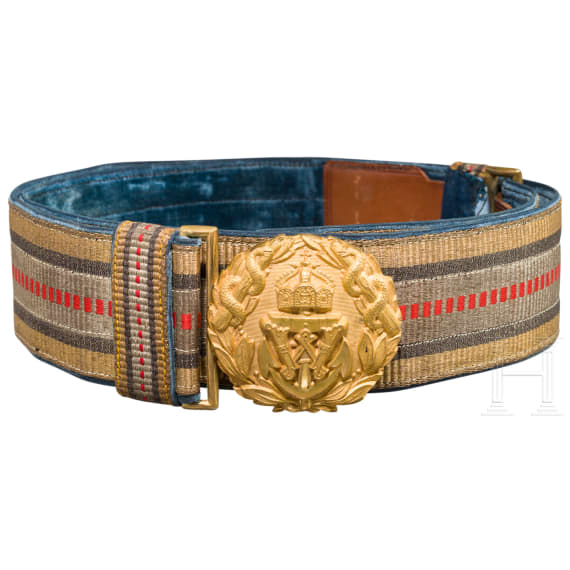 Belt for admirals in the medical service of the Imperial German Navy