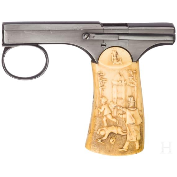 Einhandpistole Brun-Latrige, Luxus-Ausführung, um 1890