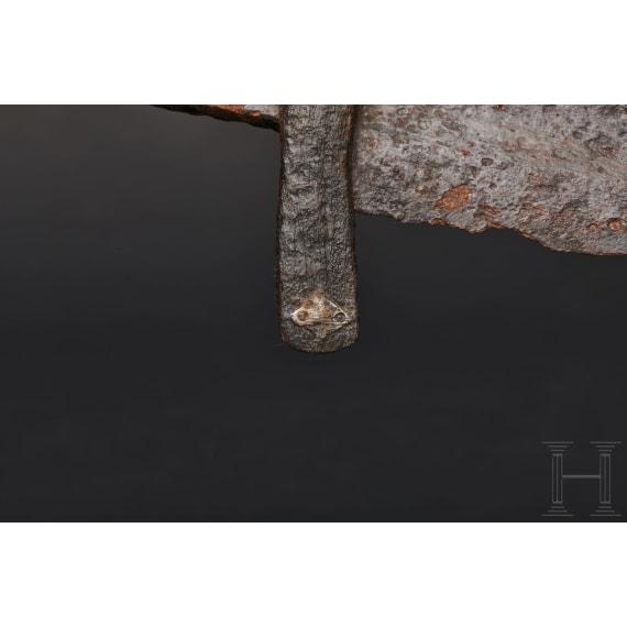 A North European Viking sword with silver inlaid hilt, 10th century