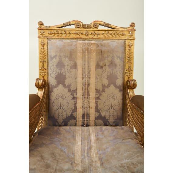 A splendid French armchair, Jacob model, early 19th century