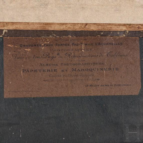 """Venezianischer Paradehelm"", Gouache, Frankreich, um 1880"