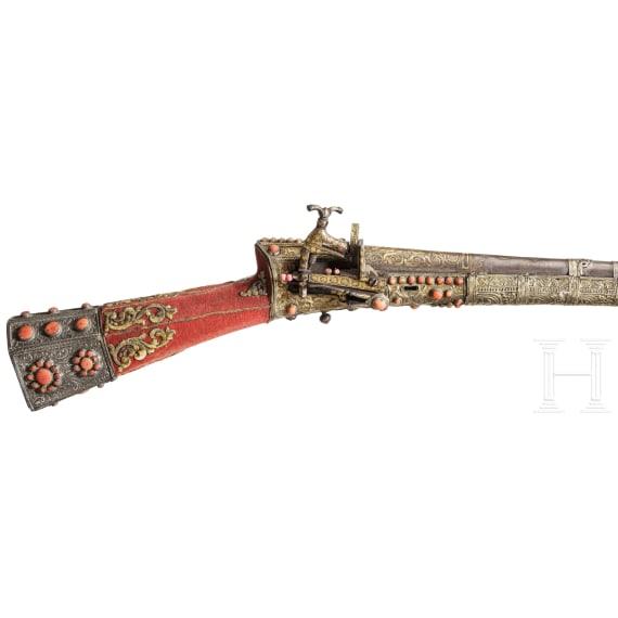 An Ottoman tüfek set with corals, 18th century