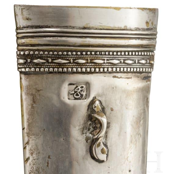 Kandschar mit silberner Scheide, osmanisch, um 1800