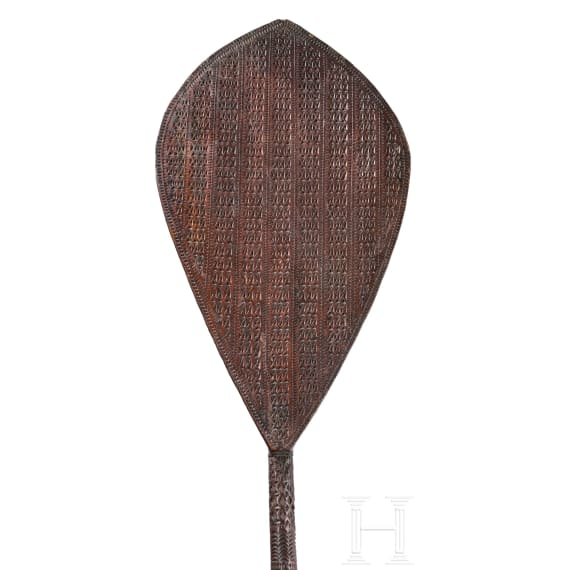 A French Polynesian carved paddle, Austral Islands