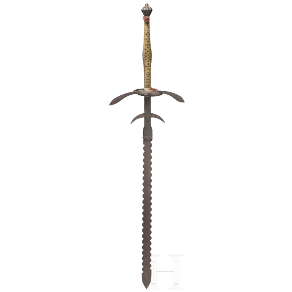 A South German two-handed flamberge, circa 1580