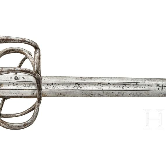 A German cavalryman's sword, circa 1600