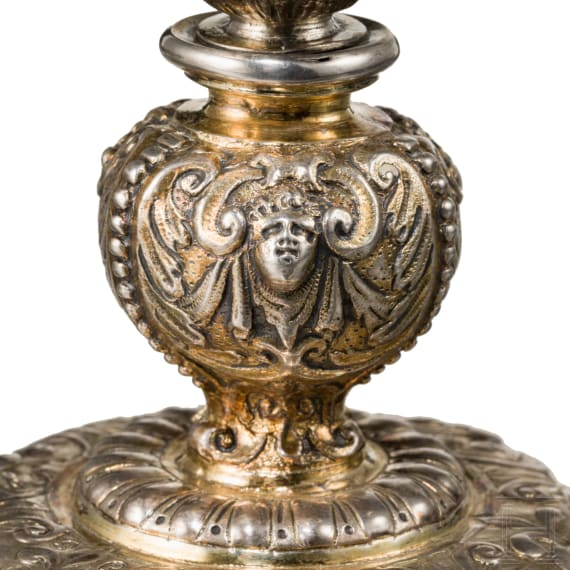 A southern German silver mounted coconut cup, 17th/19th century